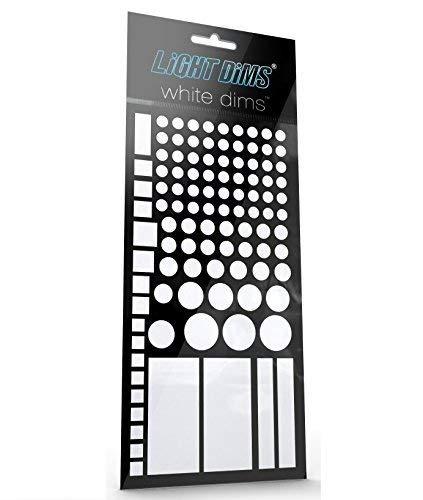 Lightdims Weiße Dimmer - Lichtdimmernde Led Abdeckungen Für Weiße Babymonitoren, Rauchmelder, Elektronikgeräte, Haushaltsgeräte Und Weiteres. Dimmt 80-90% Licht, In Verkaufsverpackung.
