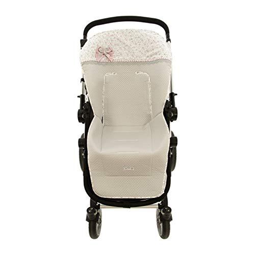 Colchoneta o funda de Paseo para silla Universal Rosy Fuentes en color gris rosa