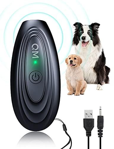 Dispositivo antiladridos, dispositivos de disuasión de ladridos para perros de mano, dispositivo recargable para detener ladridos de perros, dispositivo antiladridos suave para mascotas de 16.4 pies