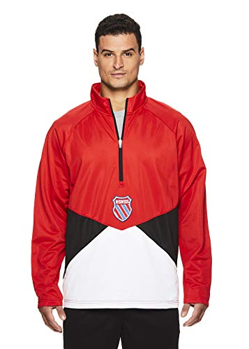 K-Swiss Men's 1/4 Zip Pullover Track Jacket - Long Sleeve Running & Warmup Top