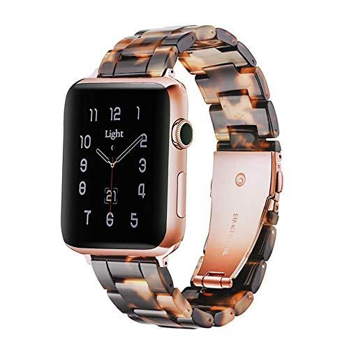 Light Compatibile con Cinturino Apple Watch 38mm 40mm, Cinturino di Ricambio in Resina per Apple Watch Series SE 6 5 4 3 2 1(Tortoise Stone, 38mm/40mm)