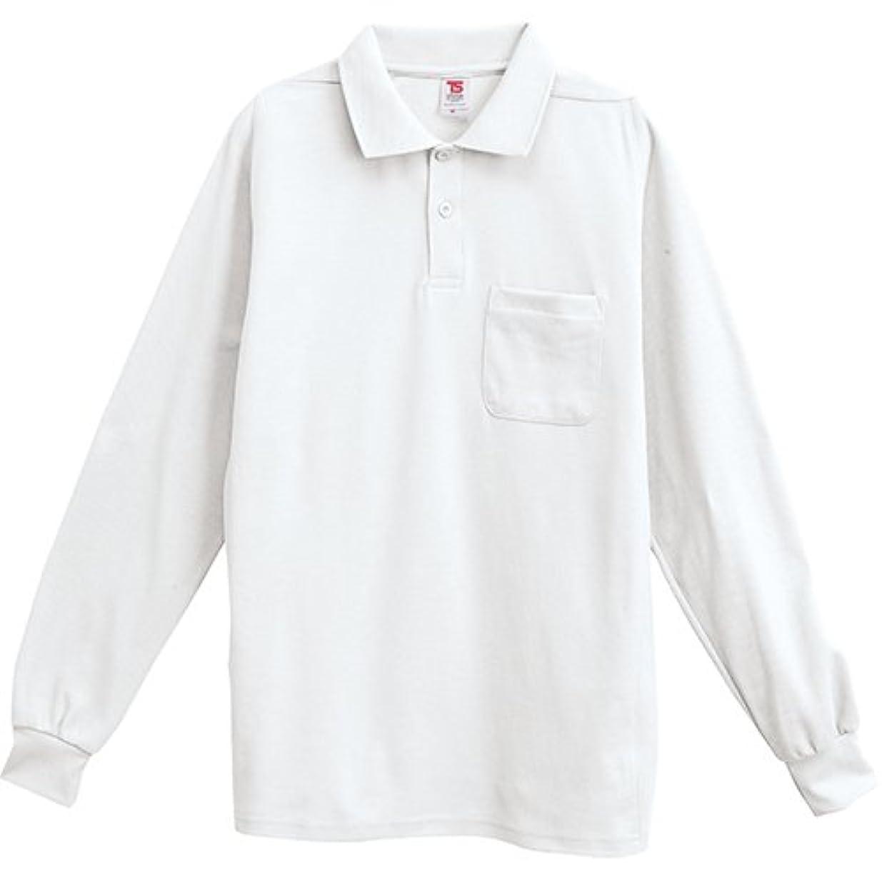 期待ストライド爆弾[ティーエスデザイン] 長袖ポロシャツ 1075 1 ホワイト SS?LL