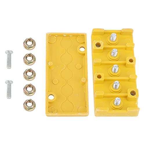 Caja de Conexiones, Resistente Caja de Conexiones eléctricas Retardante de Llama con 5 Tuercas para conexión de Bicicletas para proyectos eléctricos
