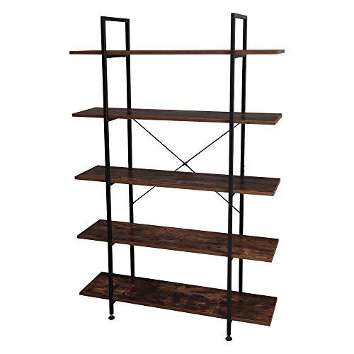 HNWNJ Estante de almacenamiento de pie de 5 capas estante de almacenamiento resistente para cocina, oficina, dormitorio, garaje, estudio, sala de estar