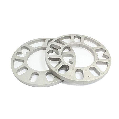 FANMURAN Distanziali Ruote Bulloni 3mm 4X100 4X114 5X100 5X114 112 in Lega di Alluminio per Auto Set di 2Pz Universale