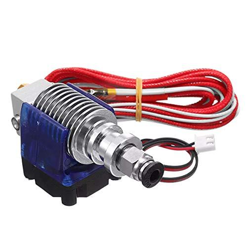 SUNTAOWAN Accesorios de la Impresora 3D, J-Cabeza 0.4mm Hotend Extrusora Distancia Kit Suppport 1,75 mm ABS filamento PLA/refrigeración con Ventilador + Impresora Ventilador Cove