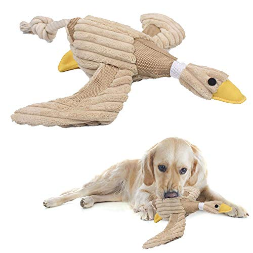 Plüschspielzeug Hundespielzeug aus Plüsch Leinen und Cord mit Quietscher