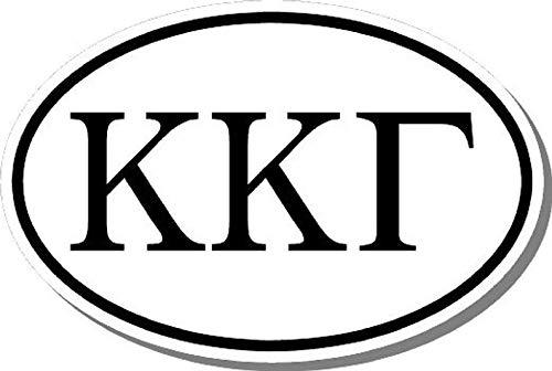 Ovale Sticker Kappa Kappa Gamma Sorority Bumper Sticker Raam Laptop Auto Sticker Vinyl Ipad
