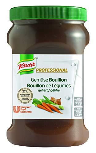 Knorr Professional Bouillon Gemüse, geliert (vegan, 1EL Bouillon genügt für 1L Wasser) 1er Pack (1 x 800g)