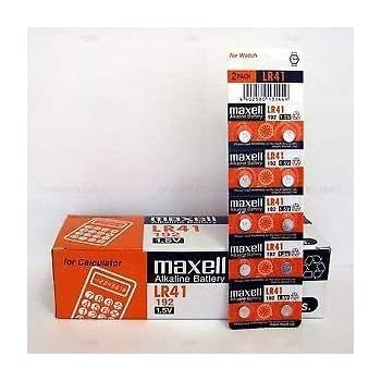 Maxell 10-Pieces Lr41 Ag3 Lr736 392 392a 192 Sr41 Button Coin Cell Battery