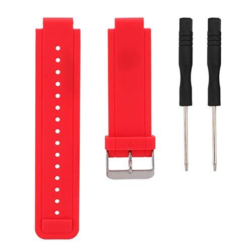CHICIRIS Correa de Reloj de Gel de sílice, Correa de Reloj, Pulsera Elegante Ajustable para Garmin Vivoactive Cómodo Uso para Uso doméstico Relojero Hombres Mujeres Todos los Relojes(Red)