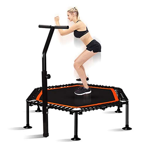 TRAMPOLINE AGYH 50-inch Folding, Bouncing Bed With Adjustable Armrests, Suitable For Aerobic Exercise In Indoor Garden Gym For Adults And Children, Load 300kg