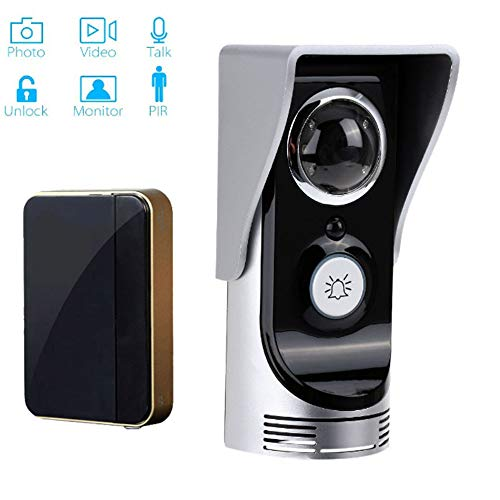 WiFi slimme video-deurbel, draadloze intelligente visuele intercom-deur ondersteunen telefooninstallatie nachtzicht vrijschakeling voor binnen en buiten