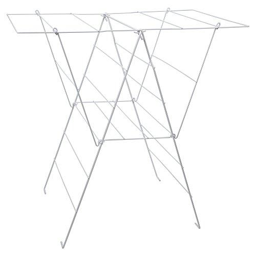 Sauvic 88844 - Tendedero Sisi plastificado,Color Blanco, 98 x 62 x 94 cm