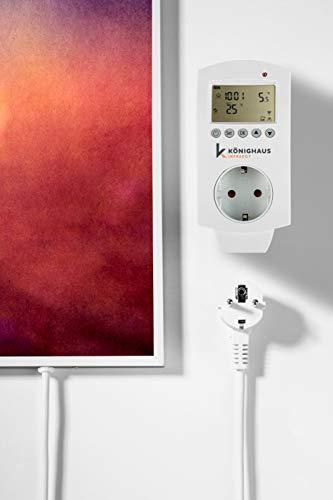 Könighaus Fern Infrarotheizung – Bildheizung in HD Qualität mit TÜV/GS – 200 Bilder – mit Könighaus Smart Thermostat und APP für IOS/Android – 600 Watt (115. Schmetterling Blume) kaufen  Bild 1*