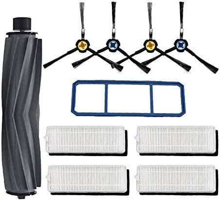 Cepillo lateral robot filtro HEPA compatible con Cecotec Conga Excellence 1090 Robot Aspiradora, accesorios Kit de repuesto para aspiradora Cecotec Conga Excellence 1090 (color: kit 4)