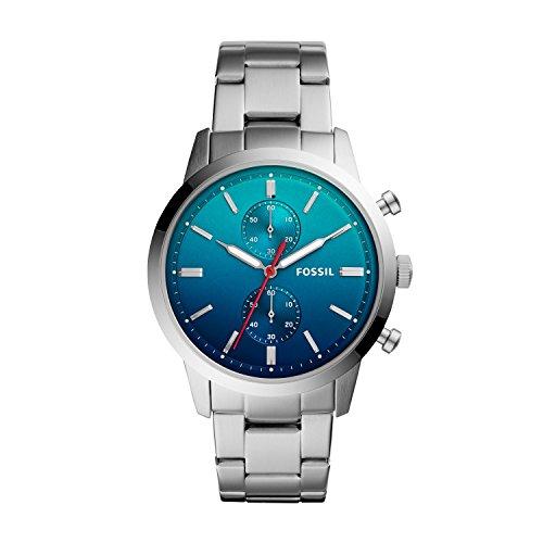 Fossil Herren Chronograph Quarz Smart Watch Armbanduhr mit Edelstahl Armband FS5434