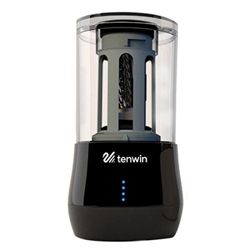 LDB SHOP Automatischer Anspitzer, Sketch + Writing Bleistiftspitzer mit USB-Anschluss, Schwarz/Weiß 9.1 X 9.1 X 17.1cm Schwarz