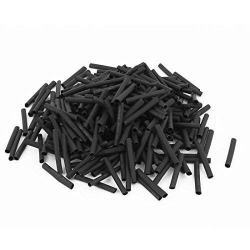 Wire Wrap Sleeve 2.5mm Dia 30mm Long Heat Shrink Tubing 280pcs Black