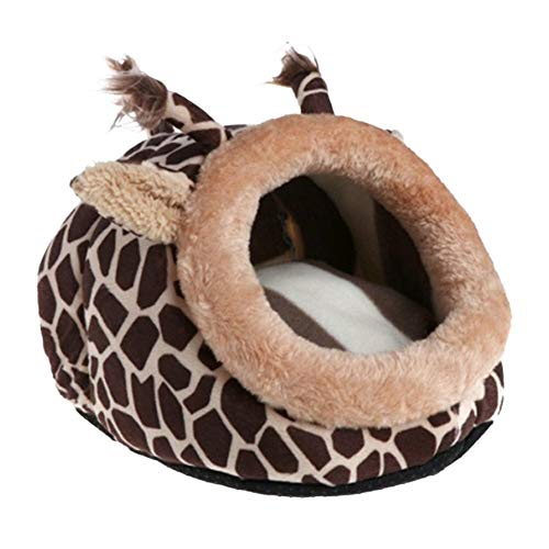 Tll-mm Lovely Cartoon Animal Pet Nest Bed Squirrel Puppy Hamster House Sleeping Cage (Size : 20X18X13CM)