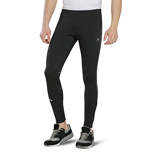 BALEAF Men's Outdoor Thermal Cycling Running Tights Black Size XXL