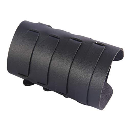 Sharplace Protector De Brazo De Tiro con Arco Ancho para con Arco, Protector De Mano con Brazo De Cuero De PU Bracer Guante Equipo De Protección Ajustable