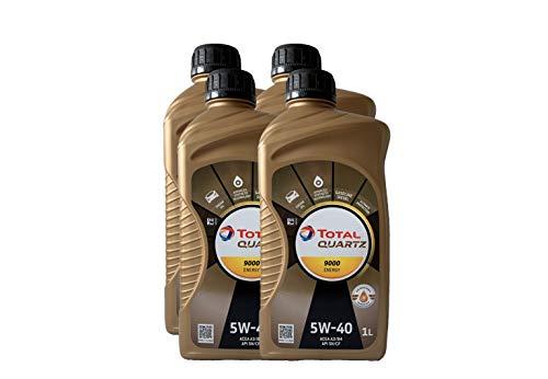 4pz olio lubrificante total quartz 9000 5w-40