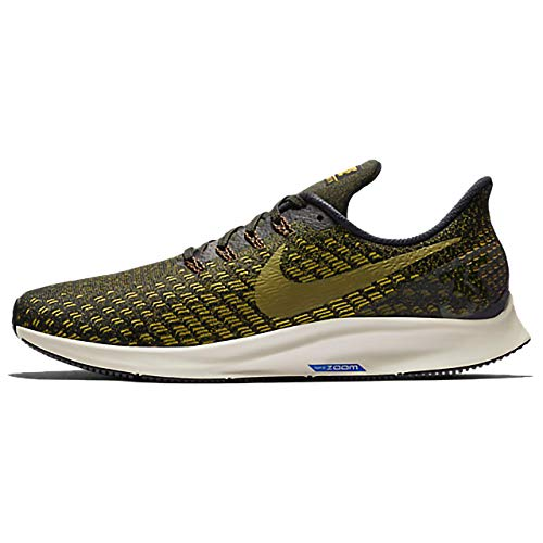 Nike Air Zoom Pegasus 35, Zapatillas de Atletismo Hombre, Multicolor (Black/Olive Flak/Peat Moss/Light Bone 11), 47.5 EU