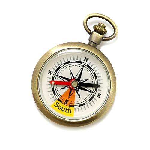 Prevessel Brújula de Reloj de Bolsillo Portátil Dispositivo de Navegación para Exteriores Brújula de Navegación para Automóvil de Senderismo Brújula de Equipo de Supervivencia para Acampar