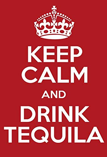 FS Keep Calm and Drink Tequila Funny alcohol Bar metalen bord bordje gewelfd Metal Sign 20 x 30 cm