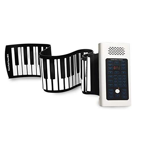 Elektronische Klaviertastaturen aufrollen Hand gerollt Klavier 88 Tasten Anfänger Erwachsene Professionelle verdickte Tragbare elektronische Orgel Premium Voices und integrierten Lautsprechern