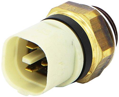 HELLA 6ZT 007 837,061 Interruptor de temperatura, ventilador del radiador , 12V , Número de conexiones: 3 , Conector plano , atornillado , Salida dobleyContacto de cierre , Marca color: negro