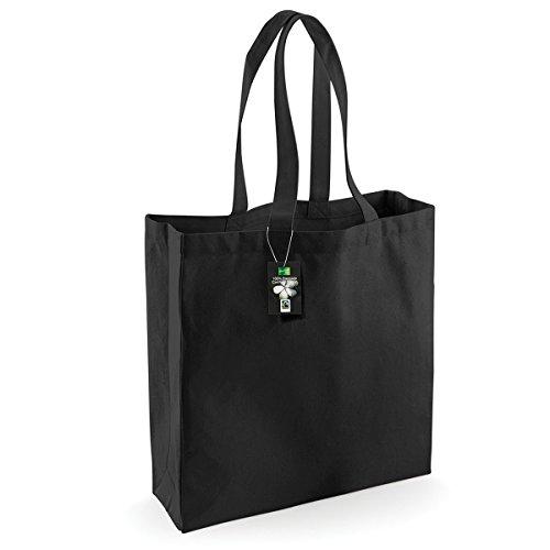 Westford Mill Baumwoll-Einkaufstasche, 21 Liter (2 Stück/Packung) (Einheitsgröße) (Schwarz)