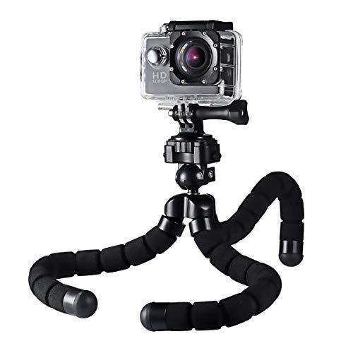 AUKEY Trípode Camara Flexible Mini 360°con Rosca 1/4' Gorillapod Trípode para iPhone 7 / 6s Plus / 6 , Samsung Note 8 / S8 , Teléfonos Android , Trípode Vídeo para Cámara Digital , Gopro y DSLR