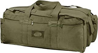 Olive Drab Israeli Military Mossad Tactical Carry Duffle Bag with Backpack Straps and Streamer