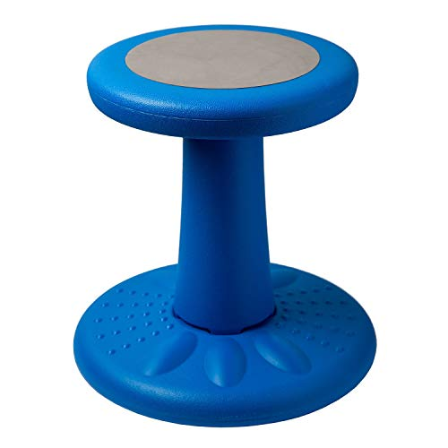 Active Kids Chair by Studico – Wobble Chair Toddlers, Pre-Schoolers - Age Range 3-7y – Grades K-1-2 - 14' High – Flexible Seating Classroom - Helps ADD/ADHD - Corrects Posture - Blue