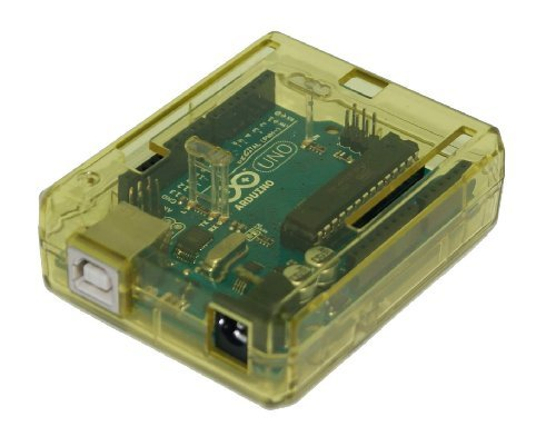 Trasparente Custodia (giallo) per Arduino UNO