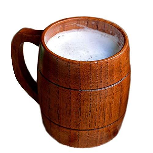 Chope Bière, 350 Ml De Bois Protection Environnementale Pour Se Rassembler Cadeau Lait Tasse À Café Thé Petit Déjeuner Boisson Tasse À Eau