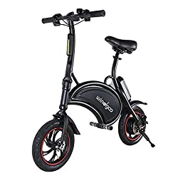 Design and Foldability: The folding electric bike frame is smart Dolphin Shape design, circular arc design hand shank, folding style, for portable convenient, easy storage Outstanding Range and Speed: The electric bike has 350W high-speed motor 36V &...