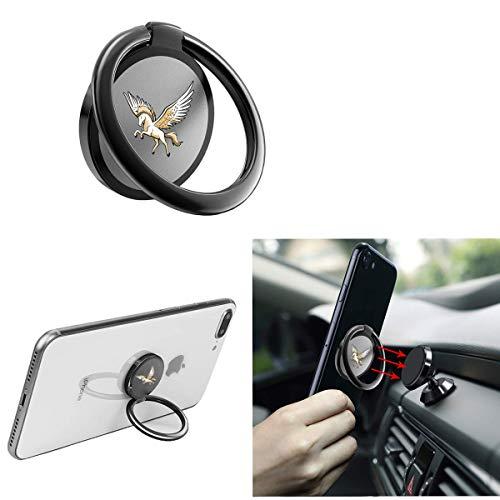 FTYSXP mobiltelefon ring hållare telefon ring hållare 360 ° vridning metall mobiltelefon grepp för magnetisk bil mobilhållare och smartphone-surfplattor (svart)