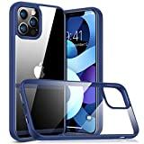 TORRAS Diamond Series Compatible with iPhone 12 Case/Compatible with iPhone 12 Pro Case 6.1 Inch (2020), Slim Shockproof Hard PC Back with Soft Edge Phone Case, Navy Blue