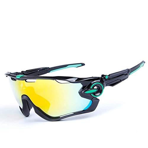 GUIYINGHUI Gafas de Sol polarizadas antivaho Gafas de Ciclismo Ligeras y duraderas Gafas de Montar a Prueba de Viento Gafas Jawbreaker para esquí Unisex Conducción Pesca- 3