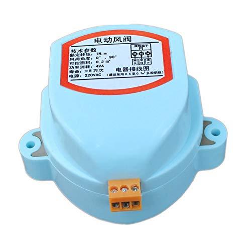 Válvula neumática de válvula solenoide de montaje de tubería Amortiguación de aire de la válvula 220 Vac eléctrico de conductos de aire eléctrico del amortiguador actuador de compuerta Conductor