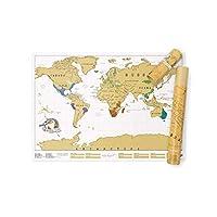 Das Original! Die Rubbel-Weltkarte wurde 2009 von Luckies of London entwickelt und entworfen. Hier mit einer goldenen Folie beschichtet. Abmessungen: ca. 83 x 60 cm. Hergestellt in Großbritannien. Hochwertige Weltkarte zum Rubbeln! Unsere Rubbelkarte...