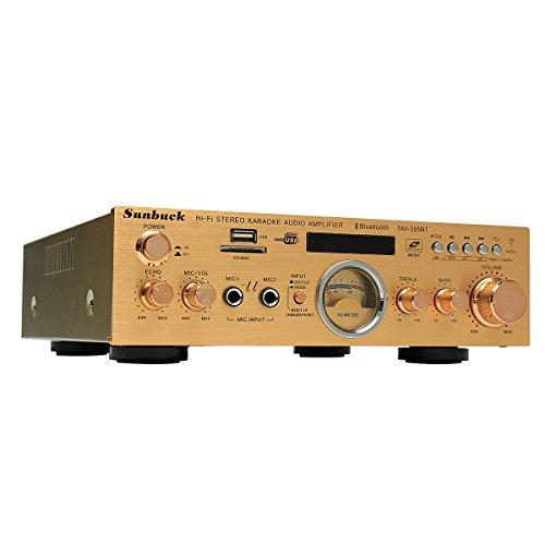 Sunbuck TAV-505BT 400W+400W HiFi Bluetooth Power VU Meter Amplifier Stereo Karaoke FM USB SD