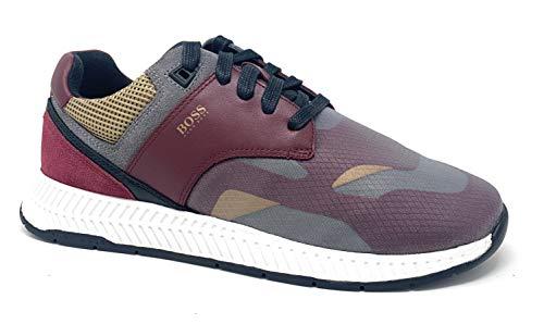 Hugo Boss Men's Titanium Runn trmx Sneaker Dark Red (9)