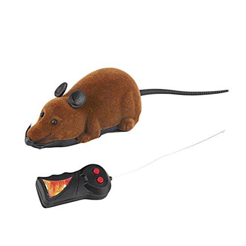 Luwu-Store Funny Cat Dog Toys - Ratón de simulación con Control Remoto, Color Amarillo
