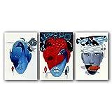YALUO Cara Colorida Cara Pavo Real y Pescados Posters Pósteres Pinturas de Aceite de Lienzo Pinturas de Aceite para el hogar Decoración para el hogar para la decoración de la Sala de Estar