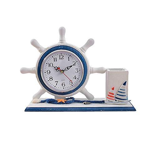 Reloj, Portaplumas Reloj Mediterráneo Reloj Pequeño, Despertador De Viaje Sin Tictac, Multiuso, Especialmente Práctico