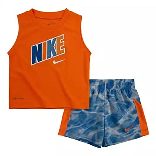 Nike DF Muscle Tank & , Niño, Naranja/Turquesa, naranja., 24 meses